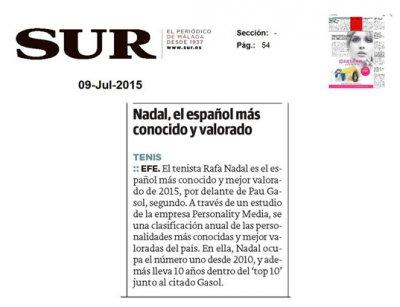 20150709 SUR - Nadal el espanol mas conocido y valorado - Personality Media.jpg