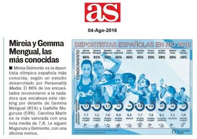 Personality Media - Deportistas Espanolas en Olimpiadas Rio 2016 - AS - Agosto 2016.jpg
